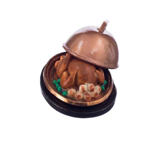 Miniatur Truthahn Weihnachtstruthahn Essen Modell für 1:12 Puppenstube Küche