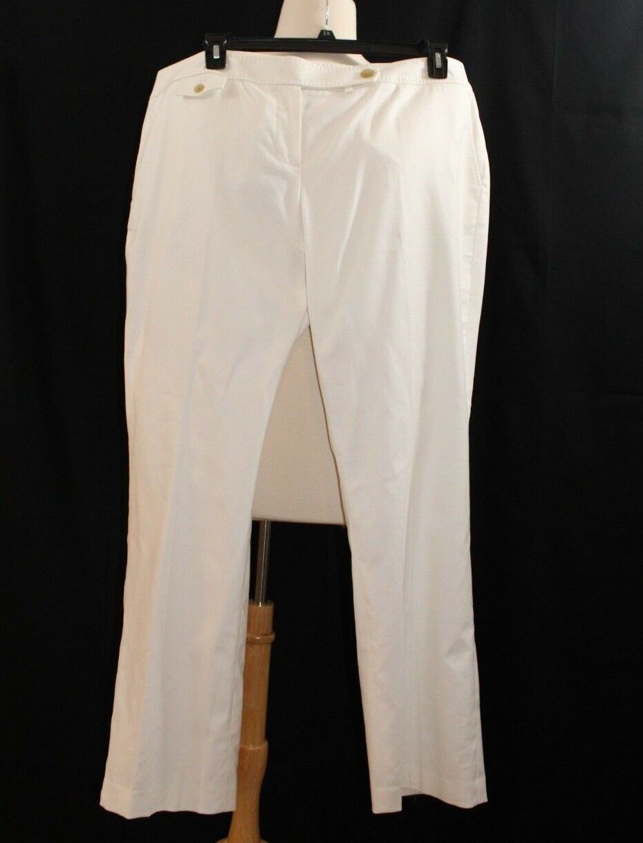 Talbots Women's Oxford Pants  -  NWT -  Size 20W - White -  SPW