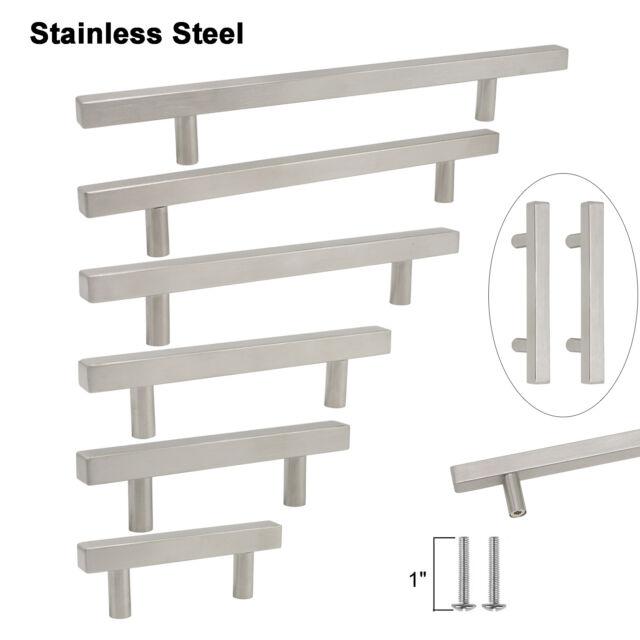 Set of 10 or 20 x Satin T Bar Kitchen Door /& Drawer Furniture Handles 192mm