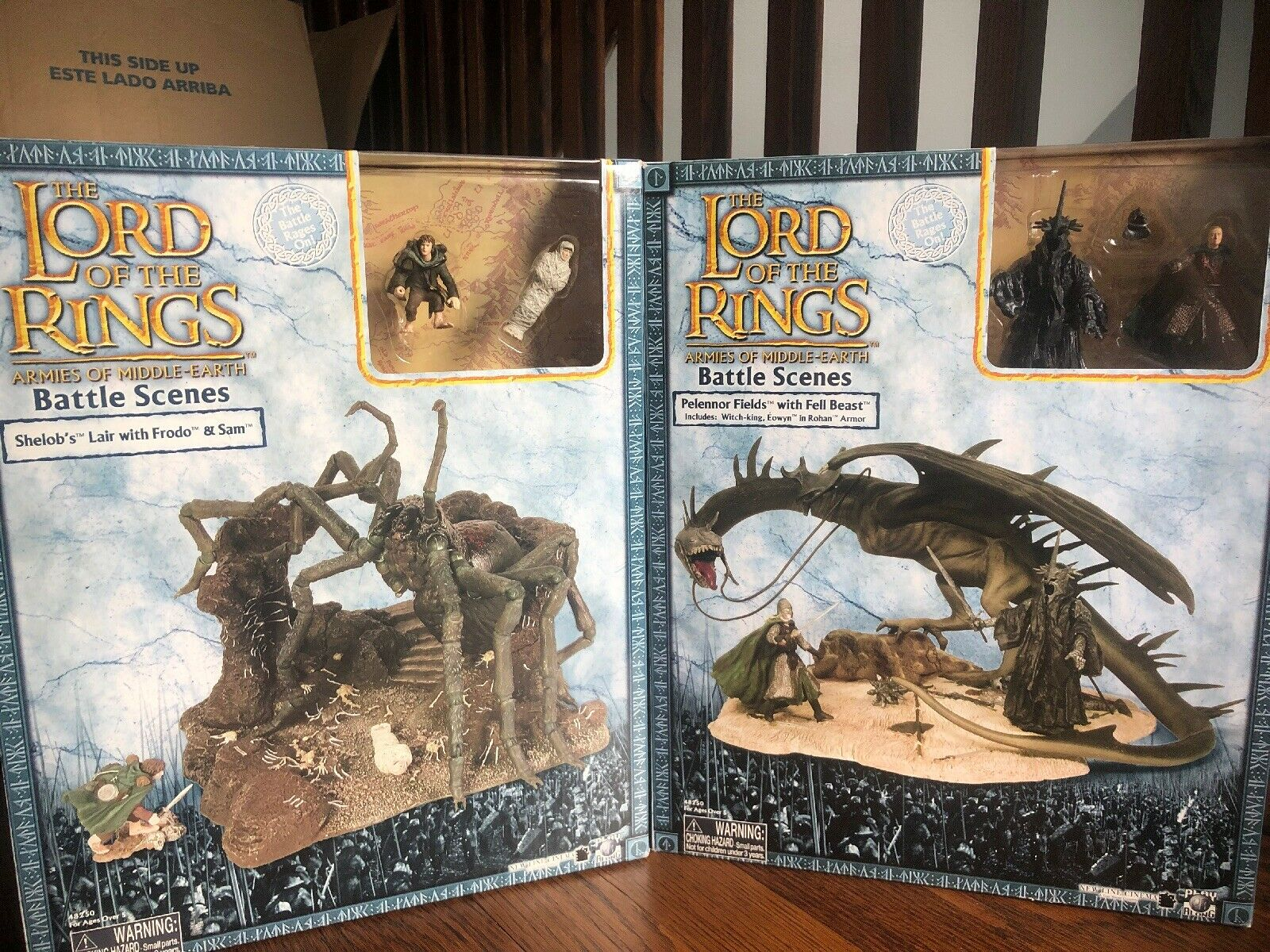 LOTR Lord Of The The The Rings Shelob's Lair Orthanc Chamber  Pelennor Fields Fell Beast aa6