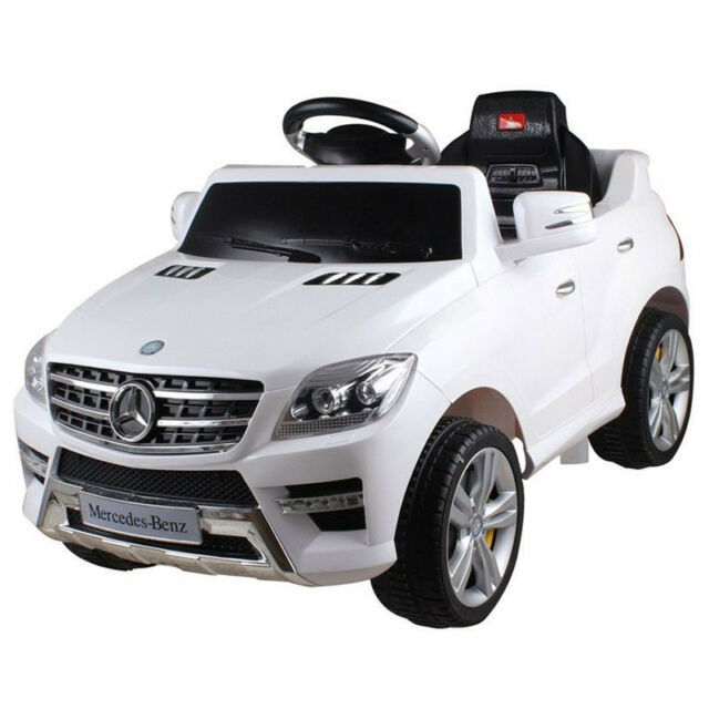New Mercedes Benz Ml350 6v Children Kids Ride On Toy Battery Jeep With Rc White