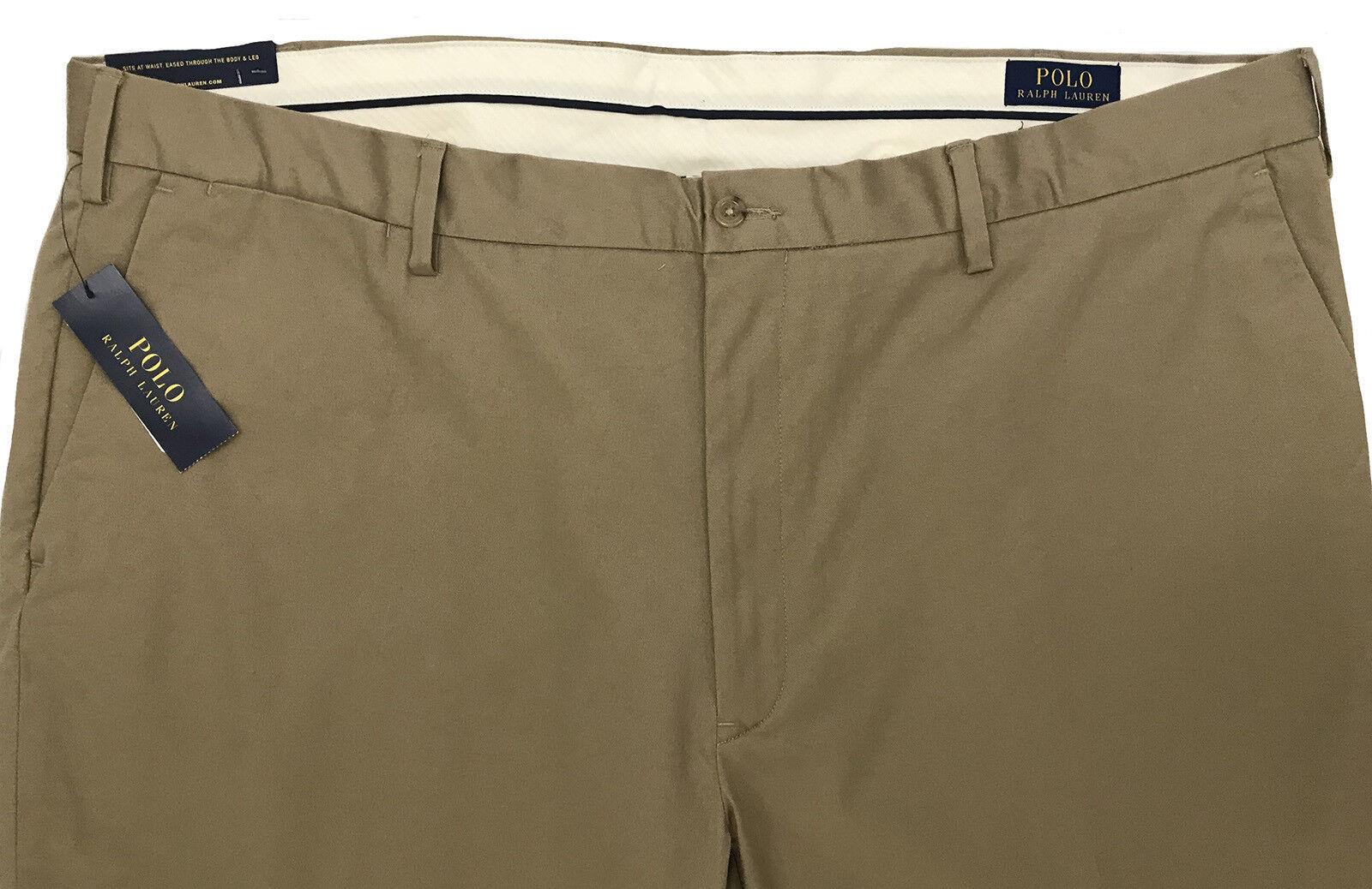 Men's POLO RALPH LAUREN Khaki Pants 46x30 46Bx30 46 NEW NWT Stretch Classic Fit
