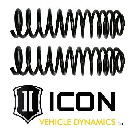 """ICON 3/"""" Lift Front Dual Rate Springs Kit Pair 22010 for 07-18 Jeep Wrangler JK"""