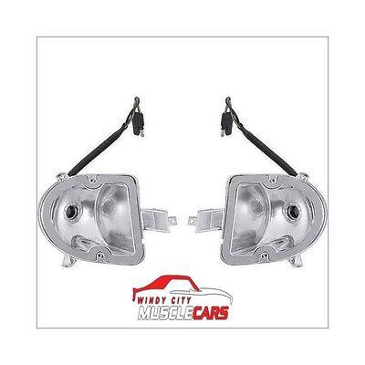 1970-74 Challenger Turn Signal Parking Lamp Light Assembly 3403006 3403007 Set