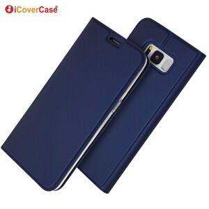 Pour-Samsung-Galaxy-S7-S8-S9-S10-Plus-S10e-Magnetique-PU-Cuir-Flip-Case-Cover