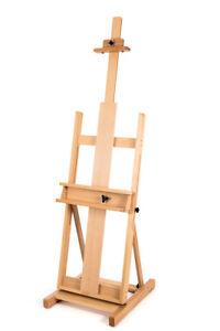 Details about Loxley Stirling Seasoned Elm Wood Studio Easel - Adjustable  Tilting & Tray