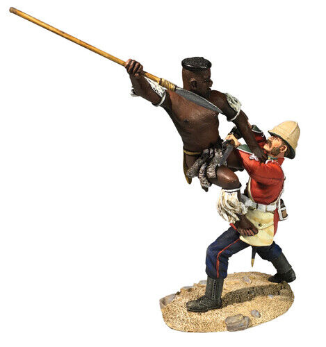 Britains 20192 'A Determined Attack' - Zulu leaping at a 24th Private.