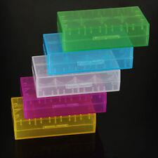 5Pcs 18650 CR123A 16340 Hard Plastic Transparent Battery Case Box Holder Storage