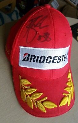 BRADLEY SMITH #38 AUTOGRAPH SIGNED MOTO GP GENUINE BRIDGESTONE CAP MEMORABILIA