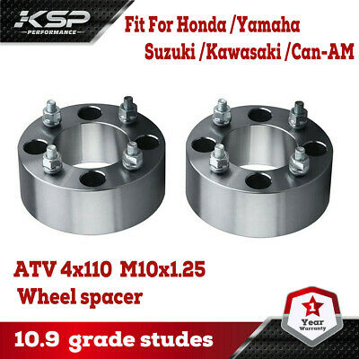 Black 2pcs 2 4//110 4x110 ATV Wheel Spacers for Honda Polaris Kawasaki Yamaha Rhino Grizzly Suzuki