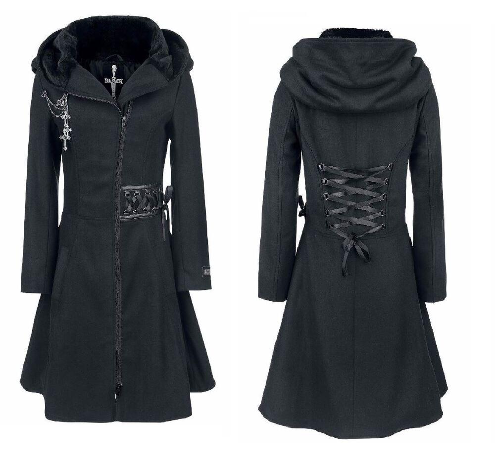 Alchemy Larmes Manteau Femme Noir Gothique Emo Punk