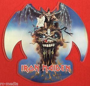IRON-MAIDEN-The-Evil-That-Men-Do-Rare-UK-Shaped-Picture-Disc-Vinyl-Record