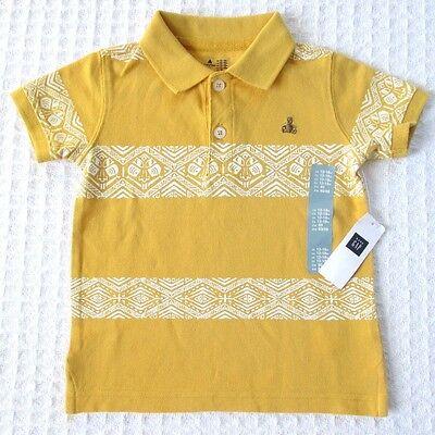NEW Baby GAP Toddler Boys 18-24 mos Brannan Bear Yellow Cotton Polo T-Shirt