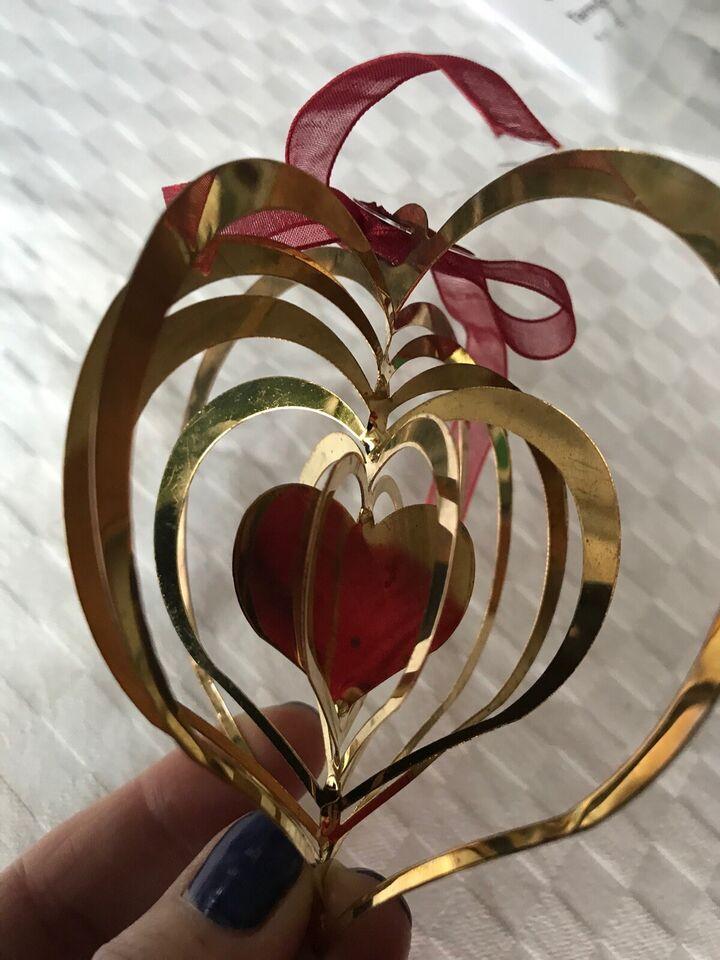 6 guldmetal lag hjerte ophæng