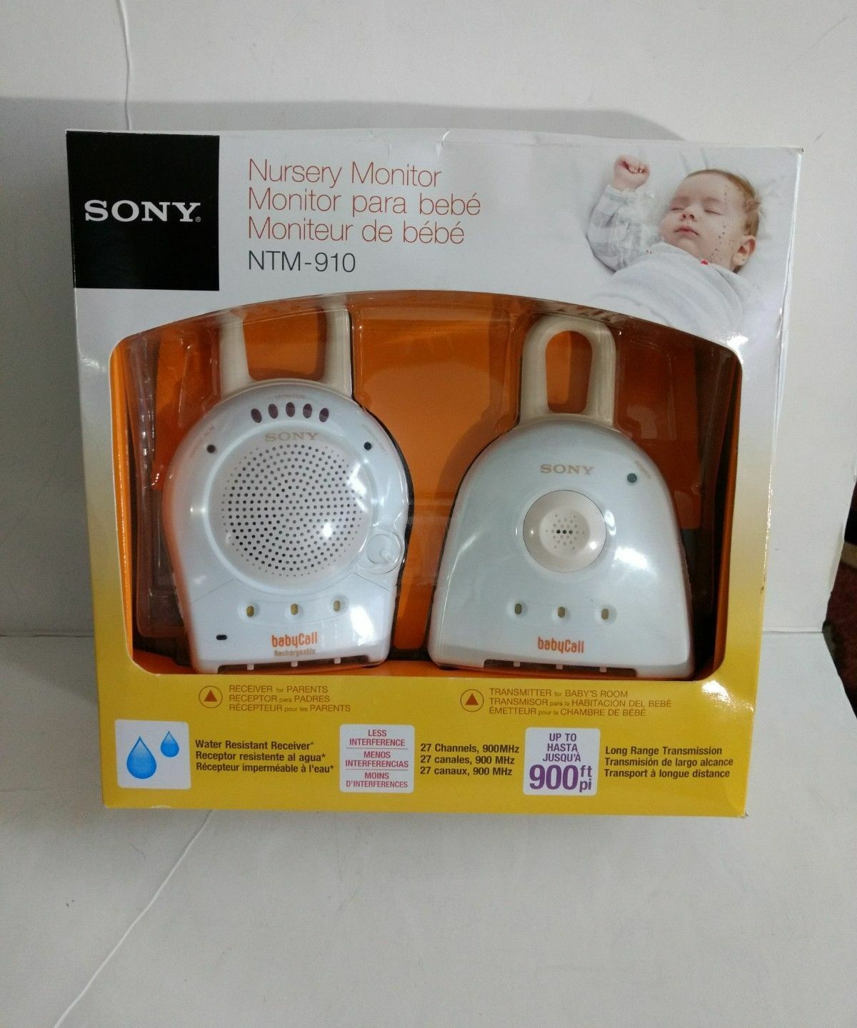 Baby Safety & Health Sony Ntm-910 900 Mhz Babycall Nursery Monitor Baby Monitors