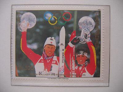 Calgary 1988 Pirmin Zurbriggen Et Maria Wallisser Bescheiden Paraguay 1987 Mi 4180