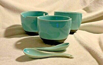 3 Home Zazen Turquoise Crackle Stoneware Set Spouted