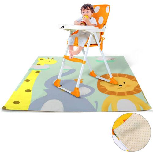 Giraffe Highchair Baby Splat Floor Mat Anti Slip Feeding Protector Splash 51inch