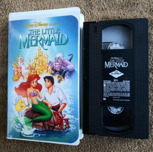 Walt Disney The Little Mermaid VHS 1989 Black Diamond BANNED ARTWORK COVER