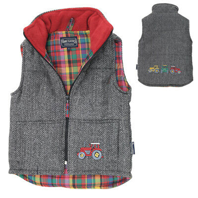 Lambland Childrens Embroidered Tractor Gilet Body Warmer
