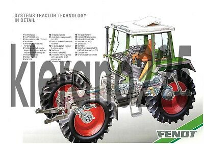 Tractor Manuals & Publications Systematic A3 Fendt Vario Tractor Poster Fendt Xylon 524 Tractor Cutaway Brochure Leaflet Easy To Repair Business, Office & Industrial