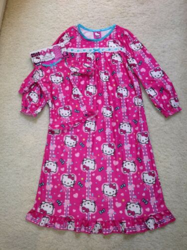 /& Doll Dress New Disney Long-Sleeve Flannel Nightgown w Lace Girls 4, 6, 8,10