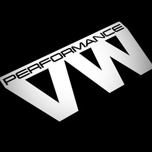 Details About Vw Performance Sticker Decal For Window Bumper Jdm Euro Van