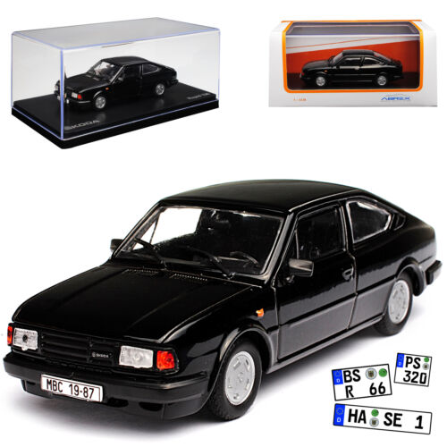 Skoda Rapid 136 Coupe negro 1984-1990 720 dc 1//43 Abrex modelo coche con o Oh