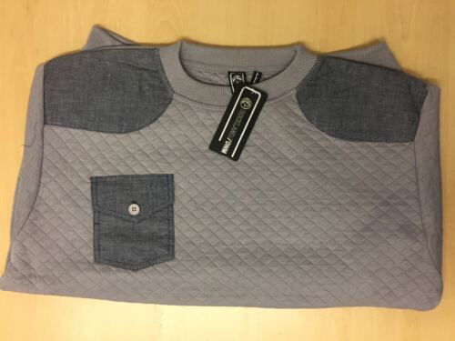 Mens New Designer Rockland Knitted Sweat shirt Pullover Print Chest Pocket Top