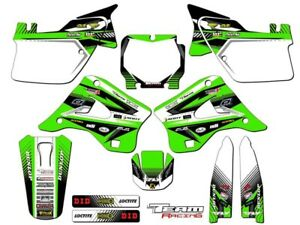 1994 1995  KX 125 250 GRAPHICS KIT MOTOCROSS BACKGROUND NUMBER PLATE DECALS