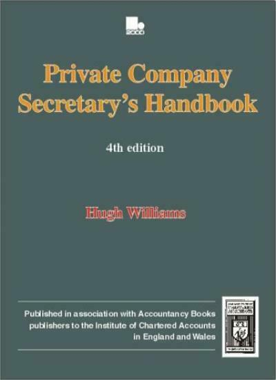 Private Company Secretary's Manual (Biography & Memoirs),H. M. Williams