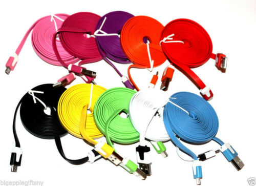 10FT 3M FLAT Micro USB Data Sync Charger Cable for Galaxy S3 2 HTC LG NOKIA SONY