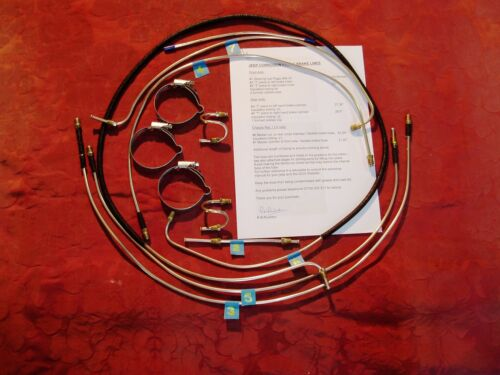 WW2 WILLYS MB, FORD GPW HOTCHKISS JEEP  CORROSION PROOF METAL BRAKE LINES