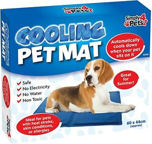 LARGE SELF COOLING COOL GEL MAT PET DOG CAT HEAT RELIEF NON-TOXIC SUMMER L