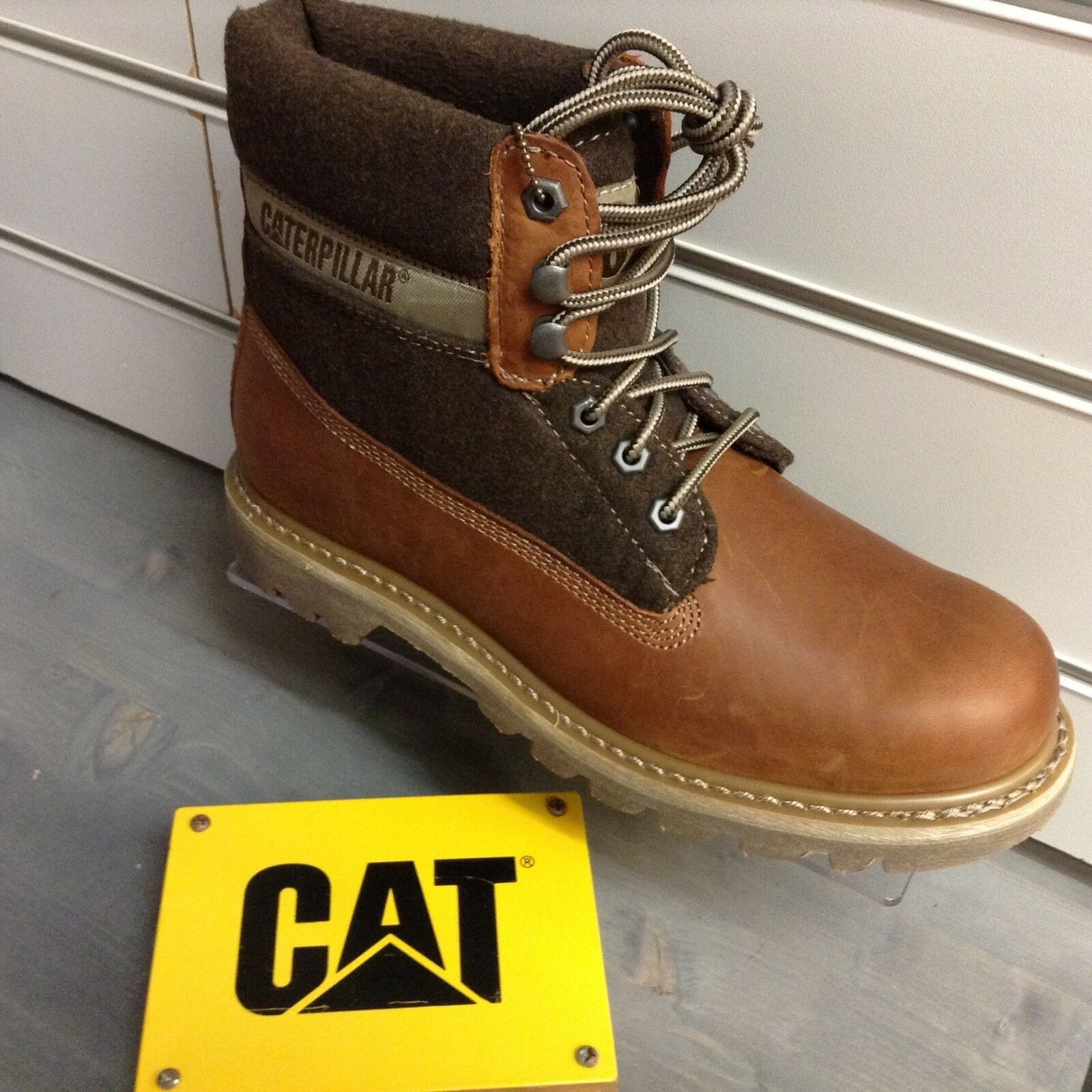 CATERPILLAR COLORADO WOOL GENTS LEATHER BOOTS WALKING WALKING WALKING WORK MENS WINTER CATS NEW 5cc399