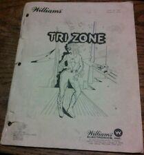 Williams TRI ZONE Pinball Machine Manual - good used original