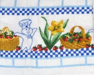New 2005 Pillsbury Doughboy Blue Multi Crocheted Top W Strawberries