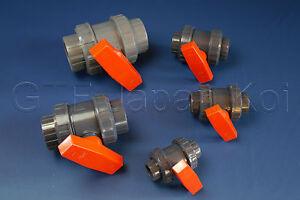PVC Kugelhahn Absperrhahn Absperrventil 25mm bis 110mm