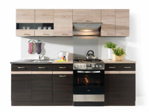 Complete-Kitchen-Set-7-Cabinets-Cupboards-Units-Wenge-Sonoma-Oak-Junona