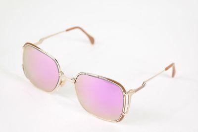 Diligente Vintage Metzler 7155 Customized Lenses 52 [] 17 Oro Ovale Occhiali Da Sole Nos-mostra Il Titolo Originale
