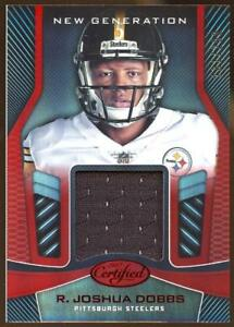 quality design 273e2 44e3f Details about 2017 Certified New Generation Jersey Red R Joshua Dobbs RC  ROOKIE STEELERS