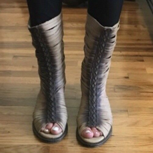 Freebird by Steven INDIA CAGE BOOTS TAUPE Leather Boho NEW MSRP  275
