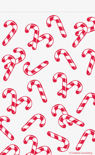 12 x CHEAP Christmas Loot Bags zipper Seal Candy Cane Party treat favour bags