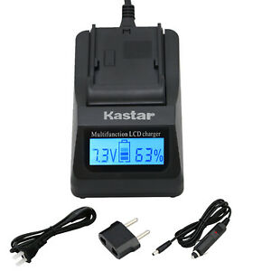 Kastar Battery Dual LCD Fast Charger for Sony NPQM71D DSR