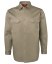 WORK-SHIRT-NAVY-KHAKI-Air-Vent-UPF-50-COTTON-DRILL-LONG-SLEEVE-TRADITIONAL-SHIRT thumbnail 5