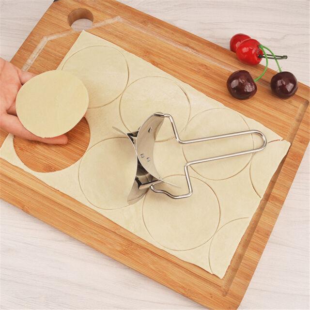 Stainless Steel Wraper Dough Presser Cutter Dumpling Pie Mould Maker Pastry WL