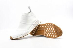 innovative design 07d94 5b798 Image is loading Adidas-NMD-CS1-Triple-White-Gum-City-Sock-