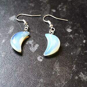 Opalite Crescent Moon Earrings