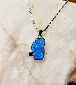 Sterling Silver Turquoise Pendant Lake Tahoe Jewelry Necklace