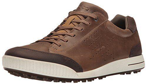 ECCO Men's Street Retro Hydromax Golf Shoe Birchcoffee 46 M EU 12 12.5 US